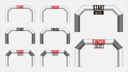 set of inflatable arches start and finish line. easy to modify