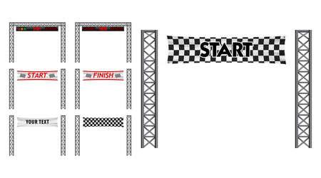 set of marathon start finish line. easy to modify