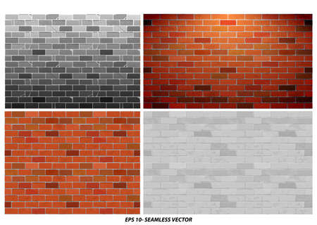 seamless brick wall textured with grunge style concept. easy to modify