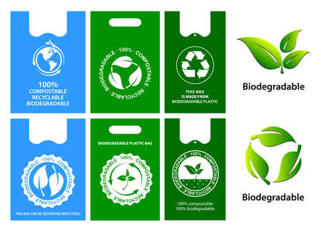 green bag concept or biodegradable plastic, reuse, reduce and recyclable concept. easy to modify