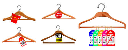 set of clothes hangers or clothes hangers isolated on white background or illustration of clothes hangers black white style. vector, easy to modify