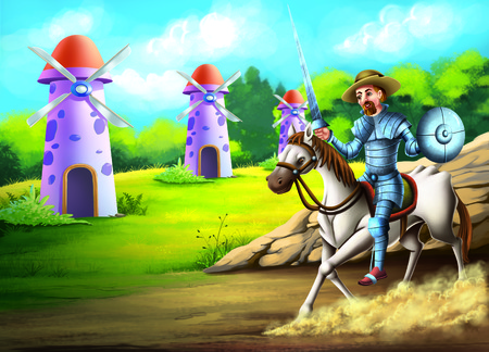 determines: Don QuixoteDon Quixote has become so entranced by reading chivalric romances, that he determines to become a knight-errant himself
