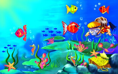 creatures: The Sea Creatures Stock Photo