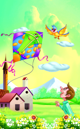 rhyme: Kite Nursery Rhyme  patang