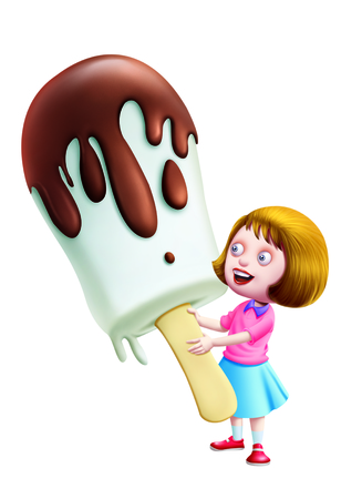 sweettooth: A girl Holding a big ice-cream