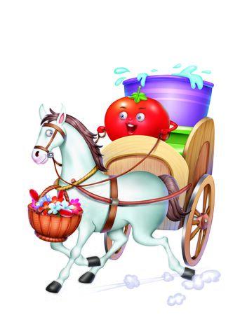 horse cart: Horse Cart Stock Photo
