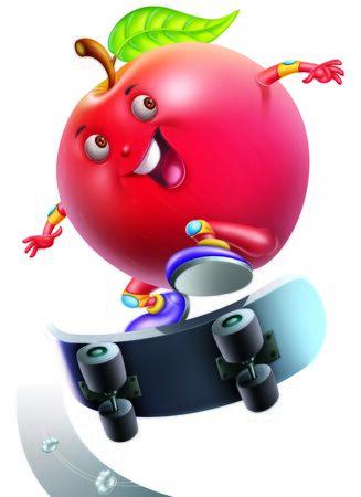 frutas divertidas: Apple en juguete