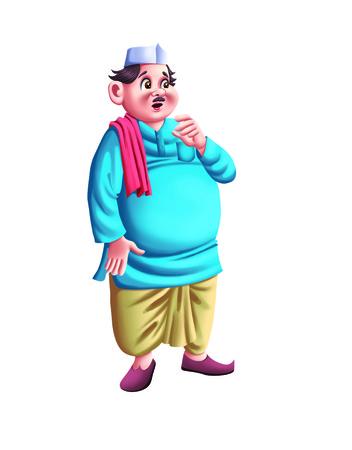 tight body: Fat Indian Man