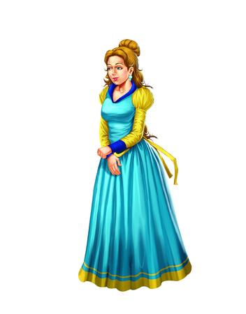 Queen Queen in a blue gown