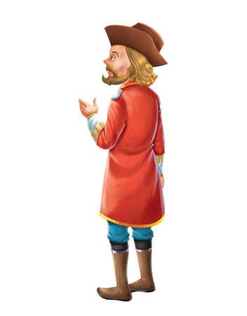 cuff: Man in a red coat