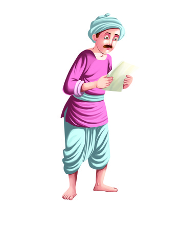 kurta: Farmer holding a paper