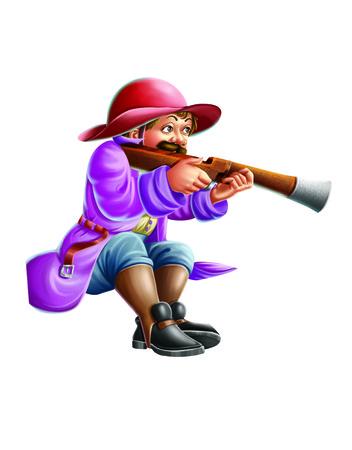 Hunter with a gun Stock fotó