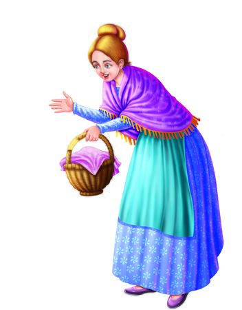 A lady with a basket