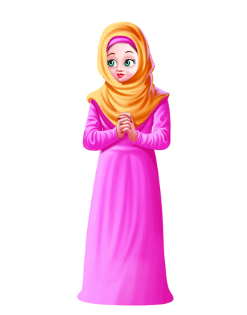 Muslim Lady Stock Photo