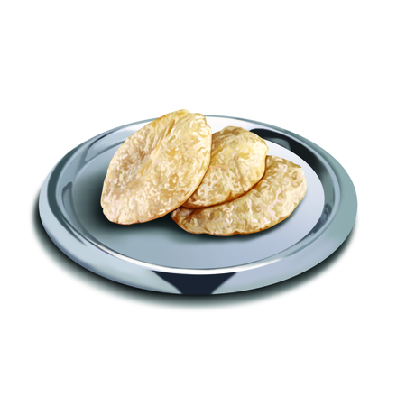 puree: Puri in a plate