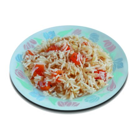 cooked rice: Fried rice in a plate
