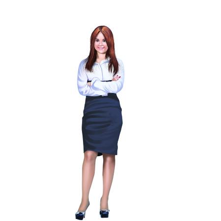 button up shirt: Ladybusiness woman Stock Photo