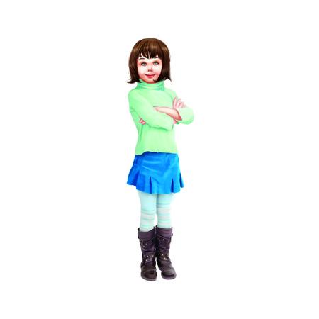 short skirt: Girl Stock Photo