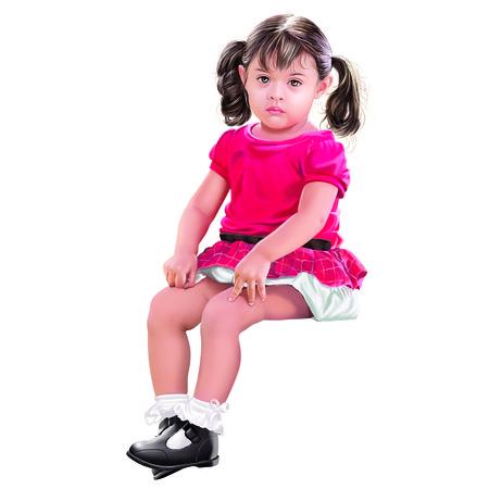 frill: Girl Stock Photo