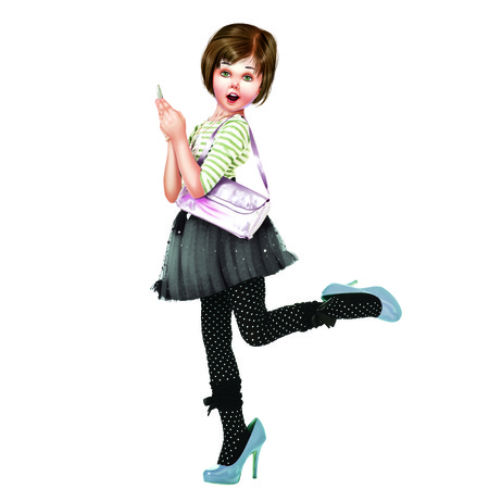 stoking: Girl Stock Photo