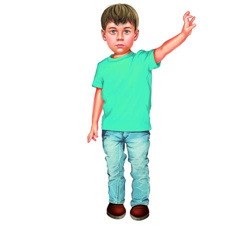 t shirt blue: Boy