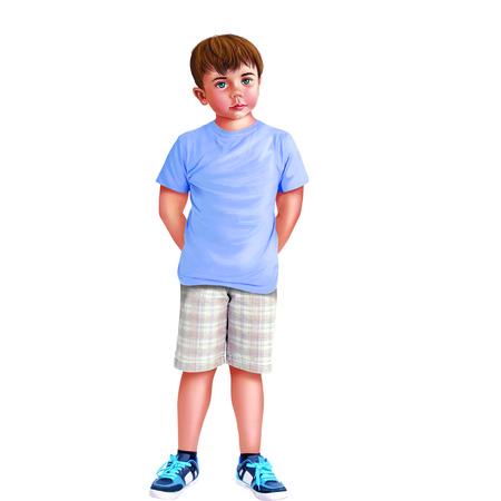 child standing: Boy