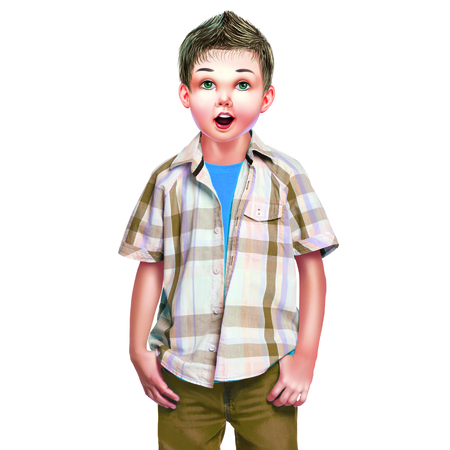 button up shirt: Boy