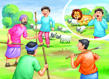 The liar shepherd and the lion story