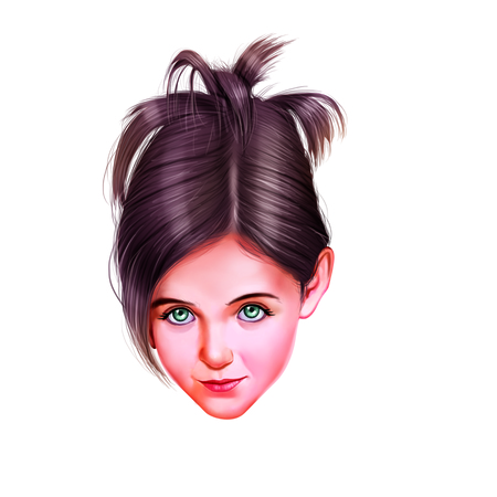 eye brow: Faces of Young Girl