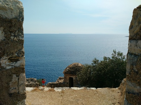View of the Ionian  sea from Porto Palermo Castle, Albania