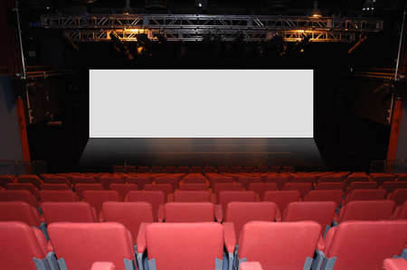 Cinema  Theatre with message space photo