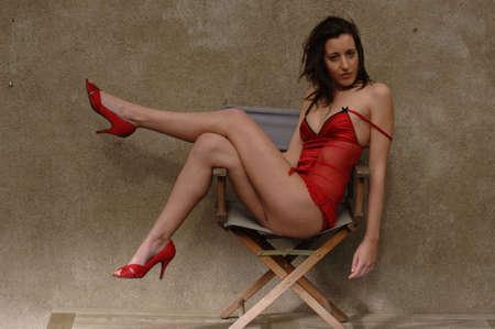 hot secretary: Lingerie Model