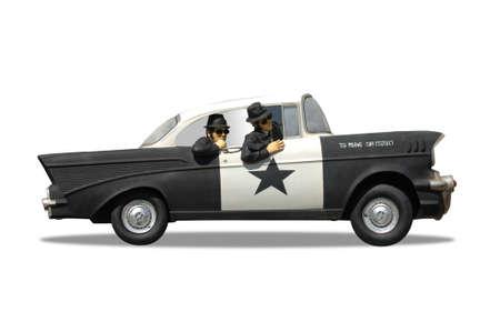 警察の巡洋艦の 3 D イラストレーション