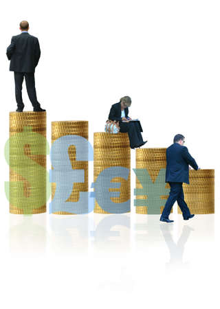 tabulation: Currency Growth Stock Photo