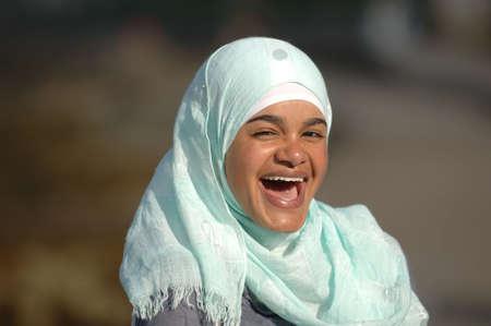 Happy Muslim Teen photo