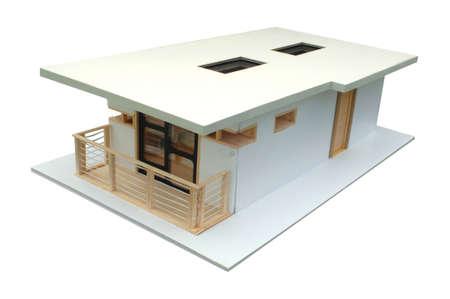 balsa: Model in balsa wood Stock Photo