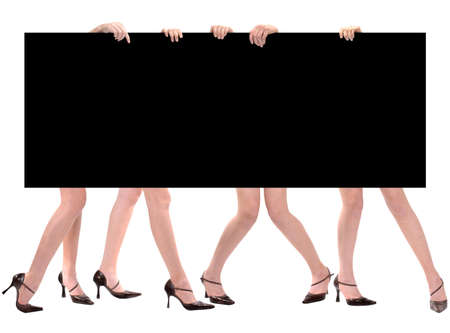 tanned girl: Legs & Message Space Marketing Board