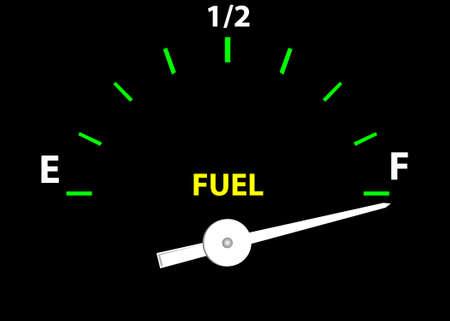 Jauge de carburant (Vector image entièrement modifiable et éditable)