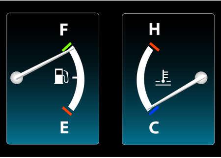 Fuel and Temperature Gauge
