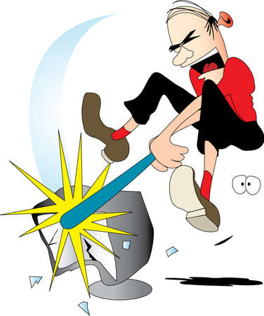 Computer Rage (Vector resizable image)