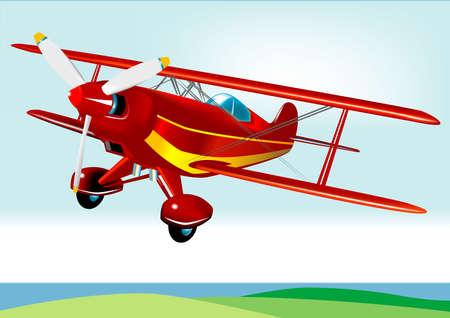 Biplane vecteur (très détaillée)