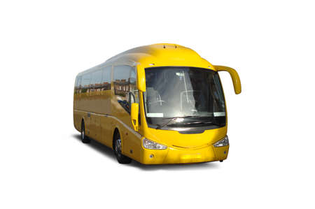 Luxury Coach isolated on white Stock Photo