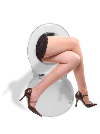 One of several wacky images from my toilet series Stock Photo