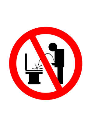 Don't piss on the toilet seat Stock Photo - 7860804