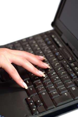 Female Laptop user photo