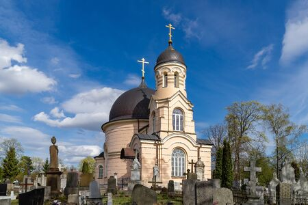 Orthodox Church of Saint Euphrosyne of Polotsk (built in 1838) in Vilnius, Lithuania,  in Liepkalnis (Euphrosyne) cemetery, founded in 1795, when Vilnius became the city of tsarist Russia