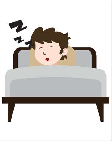 illustration of sleeping child