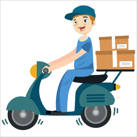 illustration of delivery man Illusztráció