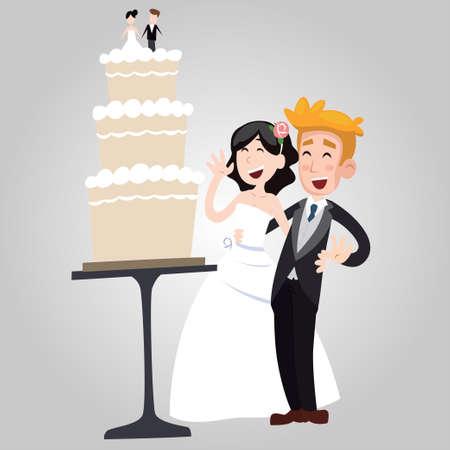 ex: illustration of wedding cake