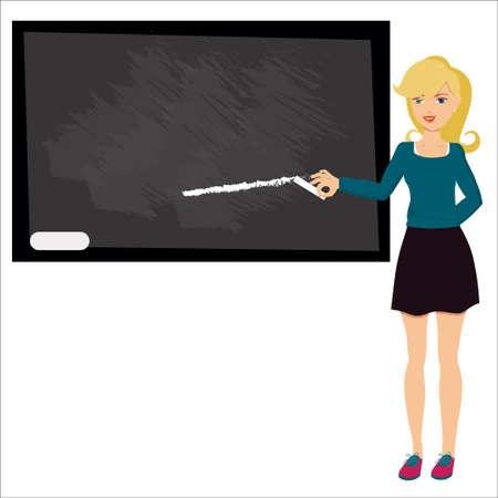 illustration of woman teacher